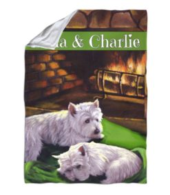 West Highland Terrier A Winter's Night – Blanket