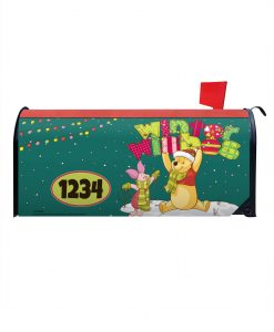 Winnie the Pooh Winter Disney Christmas Mailbox Cover