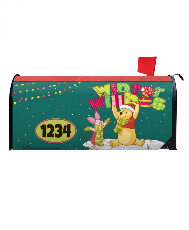 Christmas Mailbox Covers.Winnie The Pooh Winter Wishes Magnetic Mailbox Cover 8 5 X 19
