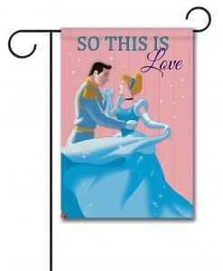 Cinderella Love Garden Disney Flag