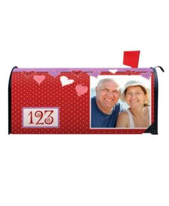 Floating Hearts Mailbox Cover