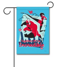 Incredibles Valentine's Garden Disney Flag