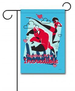 Incredibles Valentine's Garden Disney Flag