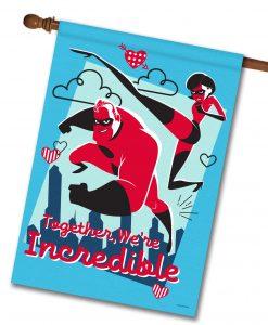 Incredibles Valentine's House Disney Flag
