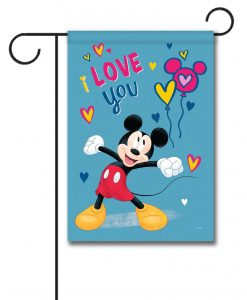 Mickey Mouse I Love You Garden Disney Flag