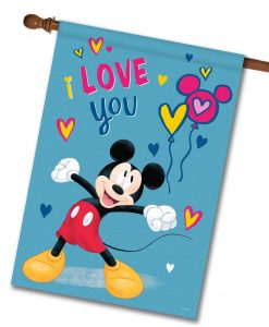 Mickey Mouse I Love You House Disney Flag