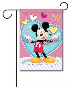 Mickey Mouse Valentine's Day Garden Disney Flag
