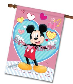 Mickey Mouse Valentine's Day House Disney Flag