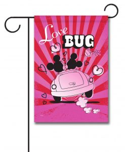 Mickey Mouse and Minnie Mouse Love Bug Garden Disney Flag