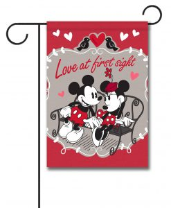 Mickey Mouse and Minnie Mouse Love Garden Disney Flag