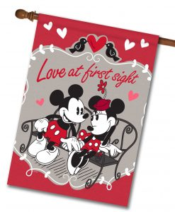 Mickey Mouse and Minnie Mouse Love House Disney Flag