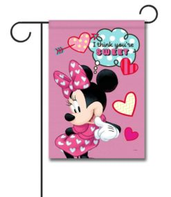 Minnie Mouse Sweet Hearts Garden Disney Flag