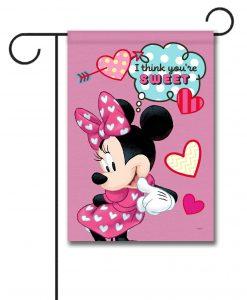 Minnie Mouse Sweet Hearts Garden Disney Flag