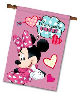 Minnie Mouse Sweet Hearts House Disney Flag