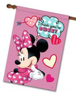 Minnie Mouse Sweet Hearts House Disney Flag