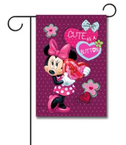 Minnie Mouse Valentine's Garden Disney Flag