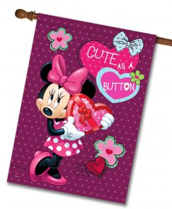 Minnie Mouse Valentine's House Disney Flag