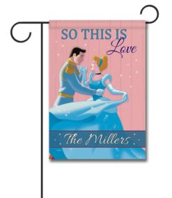Personalized Cinderella Love Garden Disney Flag