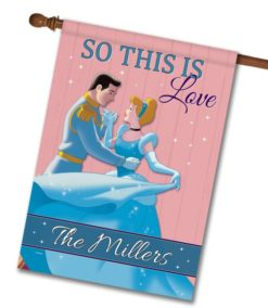 Personalized Cinderella Love House Disney Flag