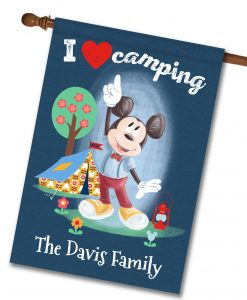 Personalized Mickey Mouse Disney Camping House Flag
