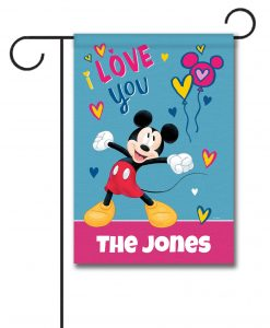 Personalized Mickey Mouse I Love You Garden Disney Flag