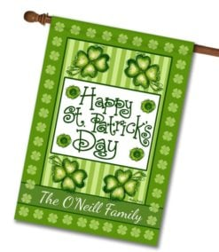 Personalized St. Patrick's Day House Flag