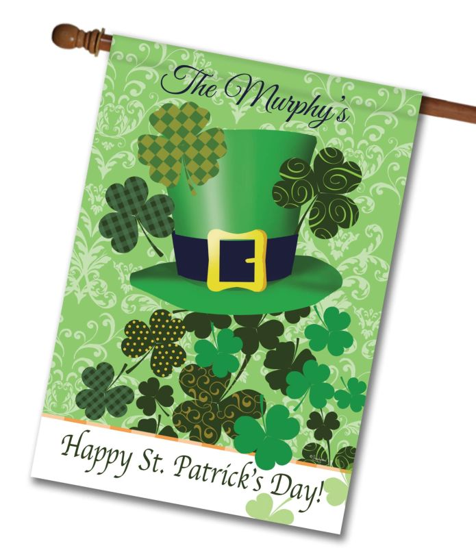 759b819d1f462 Personalized St. Patrick s Day Irish Hat - House Flag - 28   x 40 ...
