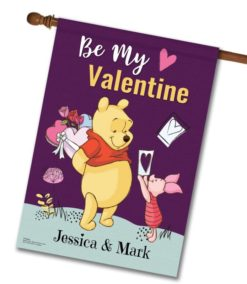 Personalized Winnie the Pooh Valentine's House Disney Flag