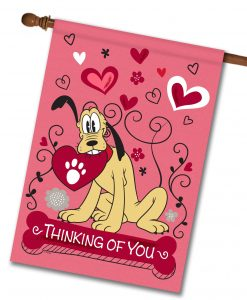 Pluto Valentine's House Disney Flag