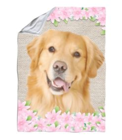 Spring Flowers Golden Retriever Blanket