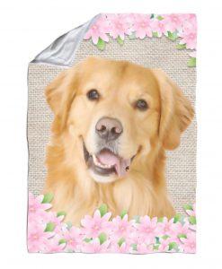 Spring Flowers Golden Retriever Blanket