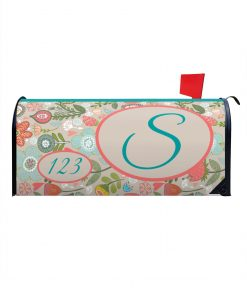 Spring Flowers Magnetic Monogram Mailbox Cover