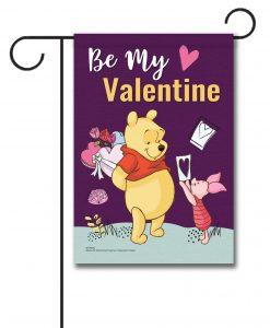 Winnie the Pooh Valentine's Garden Disney Flag
