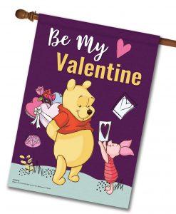 Winnie the Pooh Valentine's House Disney Flag