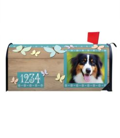 Butterflies Personalized Photo Magnetic Mailbox Cover