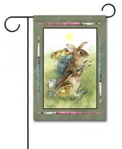 Painting Bunny - Garden Flag - 12.5'' x 18''