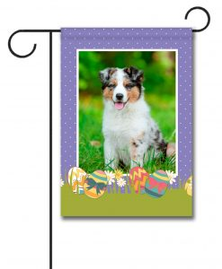Polka Dots & Easter Eggs Photo Flag - Garden Flag - 12.5'' x 18''