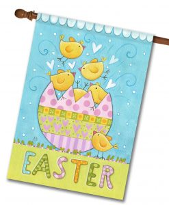 Hatching Chicks Easter House Flag