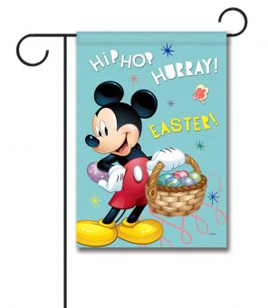 Mickey Hip Hop Hurray Easter - Garden Flag - 12.5'' x 18''
