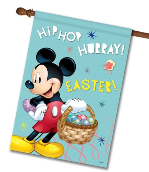 Mickey Hip Hop Hurray Easter - House Flag - 28'' x 40''