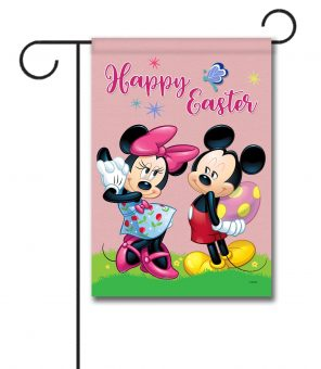Happy Easter Mickey & Minnie - Garden Flag - 12.5'' x 18''