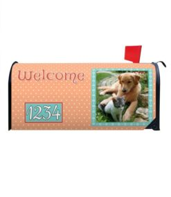 Peachy Keen Personalized Photo Magnetic Mailbox Cover
