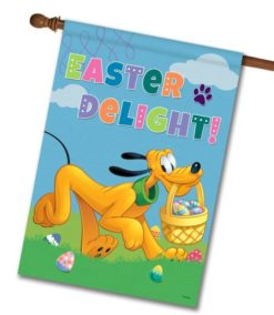 Pluto Easter Delight - House Flag - 28'' x 40''