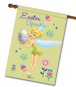 Tinker Bell Easter Sparkle - House Flag - 28'' x 40''