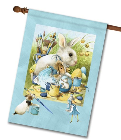Vera the Mouse Easter Eggs - House Flag - 28'' x 40''