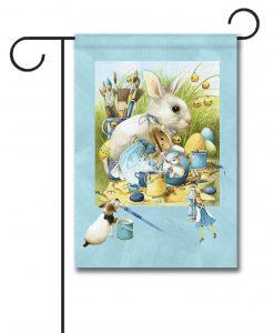 Vera the Mouse Easter Eggs - Garden Flag - 12.5'' x 18''