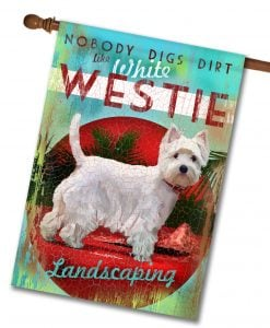 White Westie House Flag