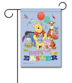Winnie the Pooh Happy Easter - Garden Flag - 12.5'' x 18''