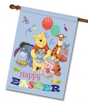 Winnie the Pooh Happy Easter - House Flag - 28'' x 40''