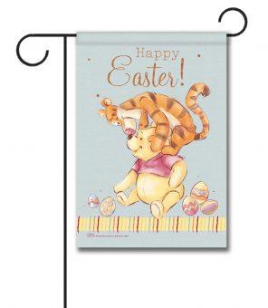 Pooh & Tigger Easter - Garden Flag - 12.5'' x 18''